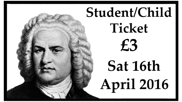Student/Child Concert Ticket (8th April 2017)
