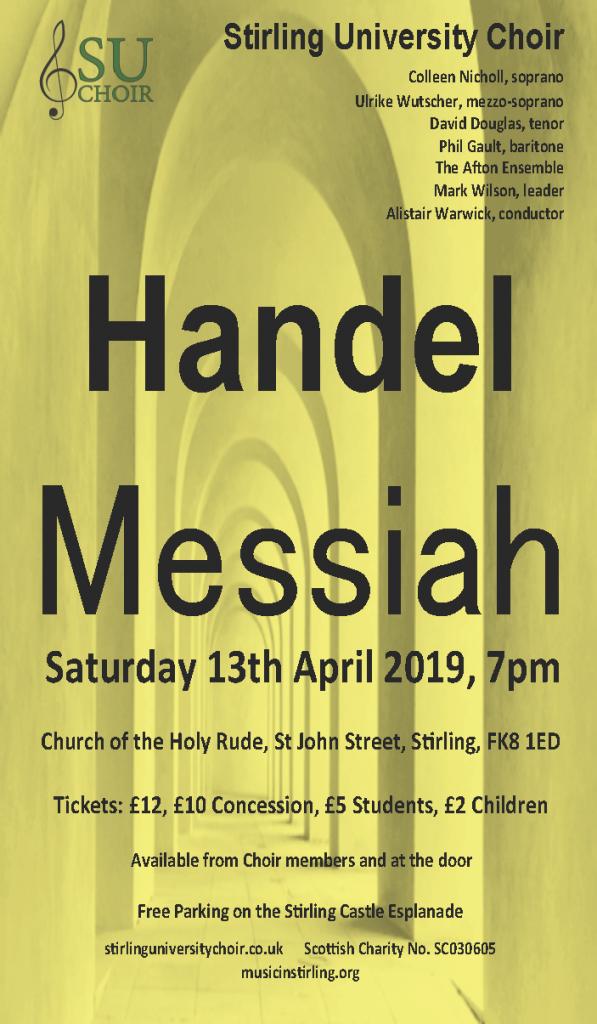 Messiah concert poster